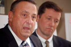 Foreground: Maine Governor Paul R. LePage