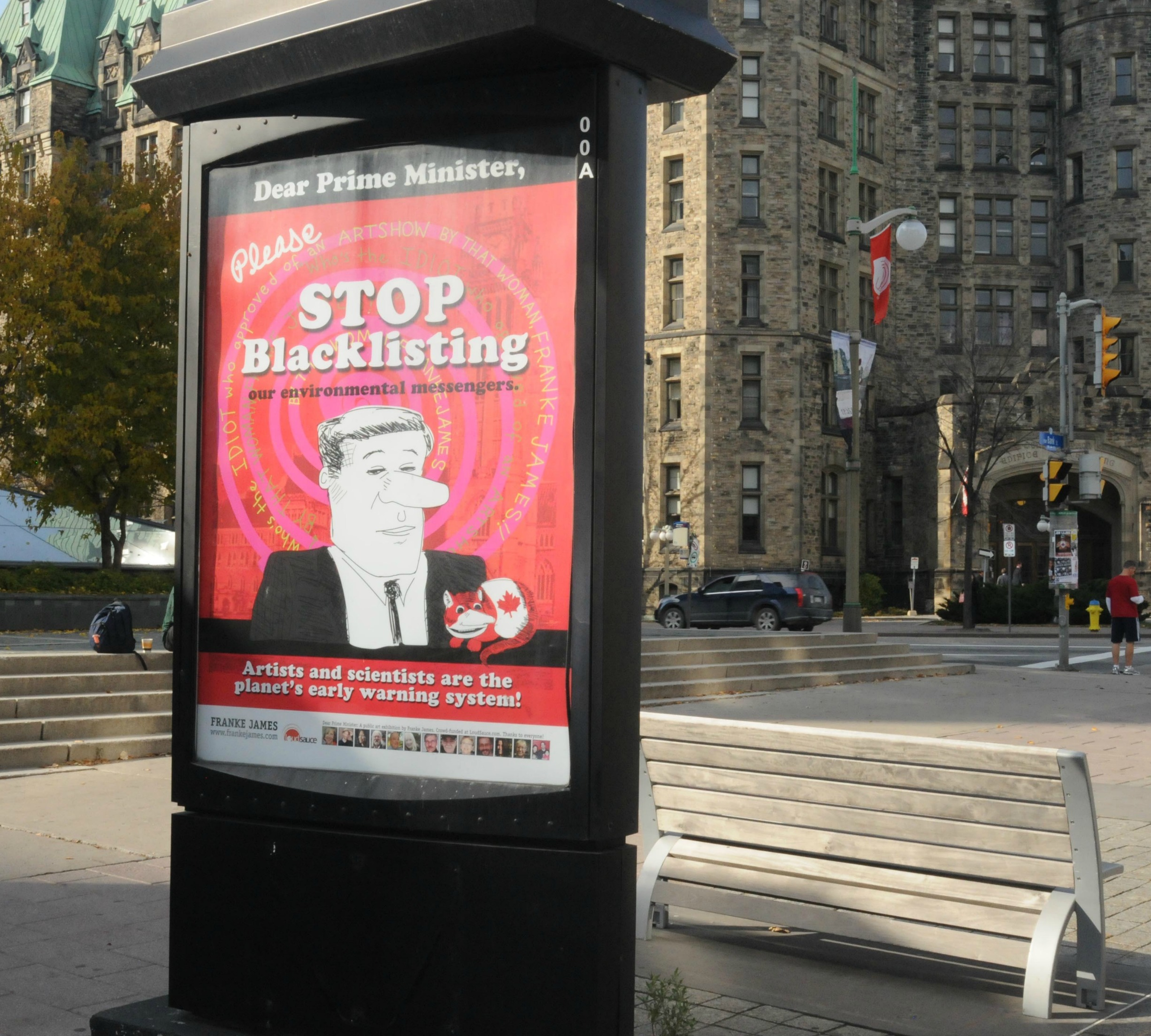 One of James' posters in Ottawa. (Click to embiggen.)