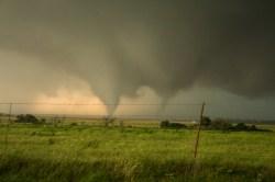 A scene from Oklahoma last Friday
