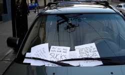 angry notes on car