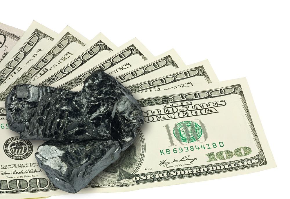 Coal on money