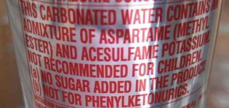 Warning on a can of Diet Coke sold in India