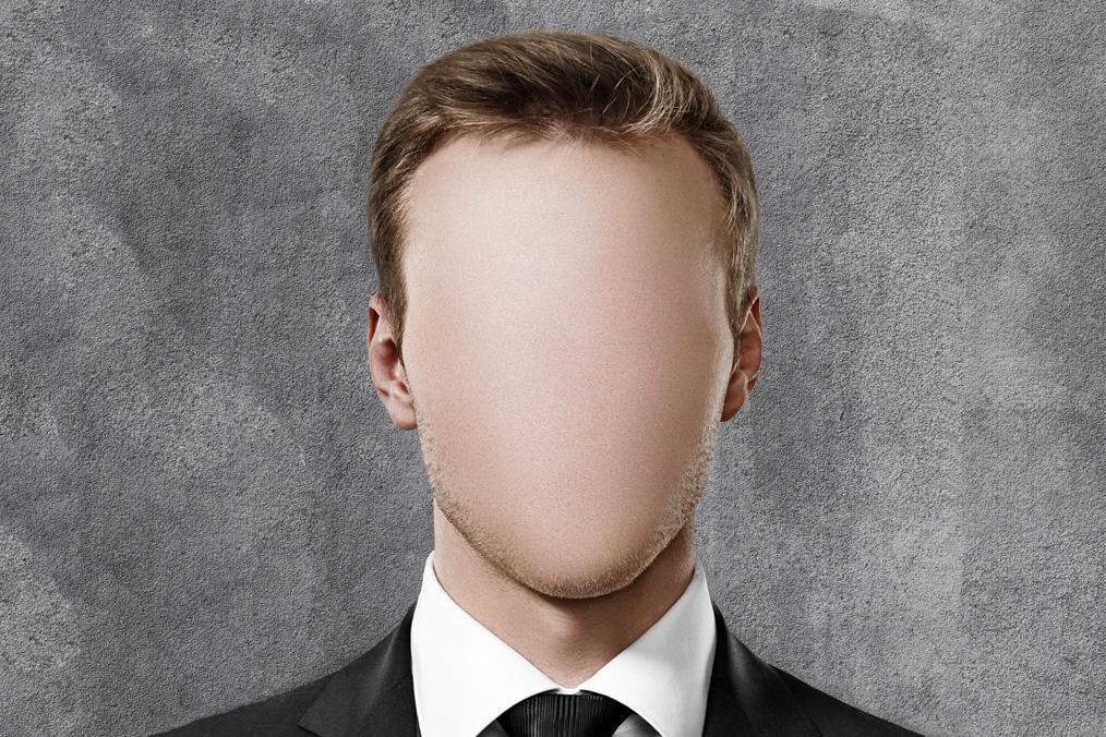 faceless man