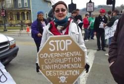 Fracking protestor in Ohio