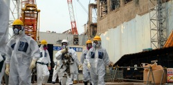 International inspectors visiting Fukushima in April.