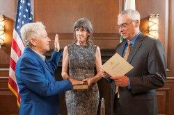 Gina McCarthy being sworn in