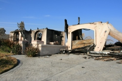 A house destroyed by San Diego's 2007 Witch Fire.