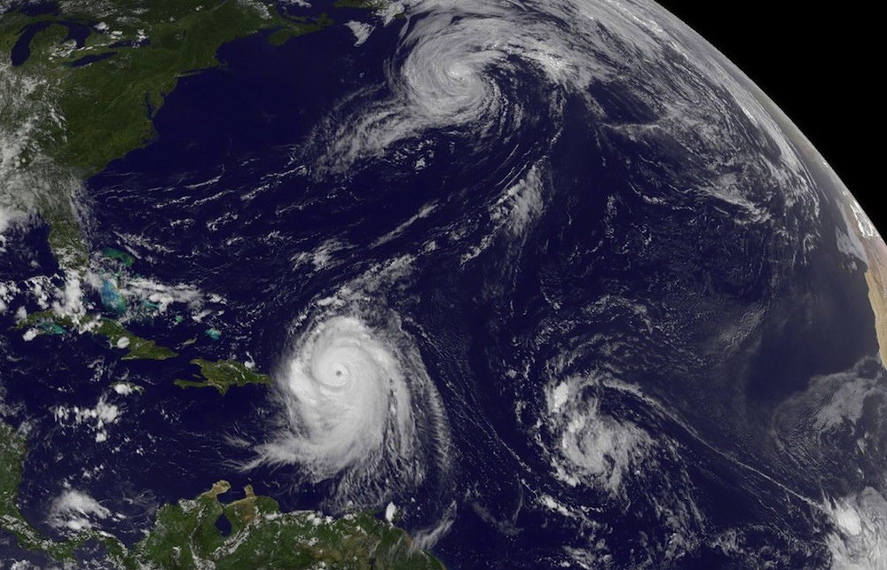 NASA Satellite Captures Hurricane Danielle, Hurricane Earl and Developing Tropical Depression 8, 2010
