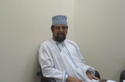 Gary Paul Nabhan in Oman, wearing desert mufti