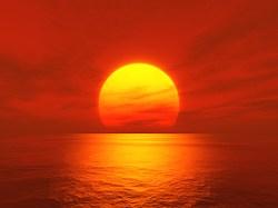 ocean-sunset-red