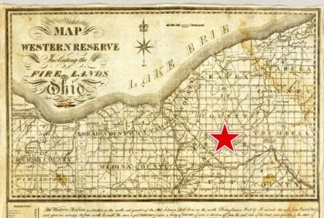 Map of the Western Reserve Including the Fire Lands in Ohio.