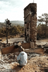 Ruins of a house burned in the Fourmile Canyon fire.