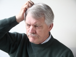 old man head scratch