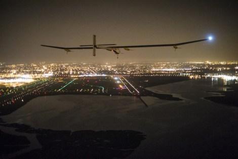 Solar Impulse approaches  John F. Kennedy Airport.