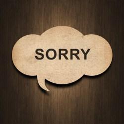 """""""sorry"""" bubble"""