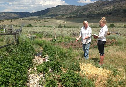 "Celeste Havener of High Horse Farm in Centennial Valley, Wyo., said, ""People told us it was impossible to grow here."""