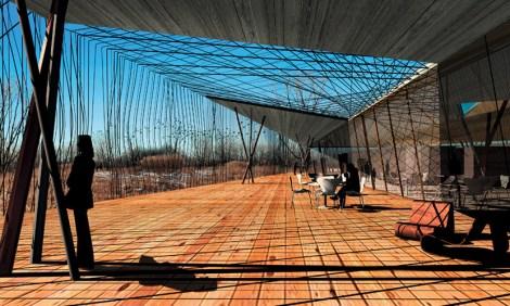 "A rendering of Gang's planed ""Best Nest"" for the Ford Calumet Environmental Center"