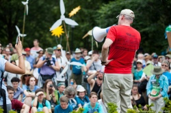 McKibben speaks to the crowd at the Walk for Our Grandchildren from Camp David to D.C.