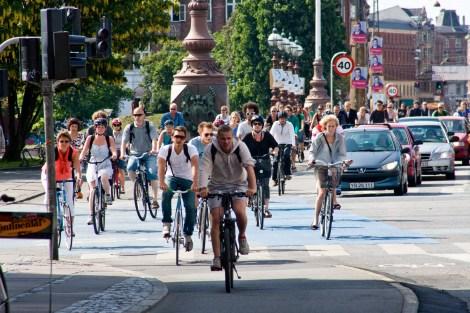 Here comes everybody: Rush hour in Copenhagen