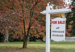 "sign: ""For Sale: No Fracking Allowed"""