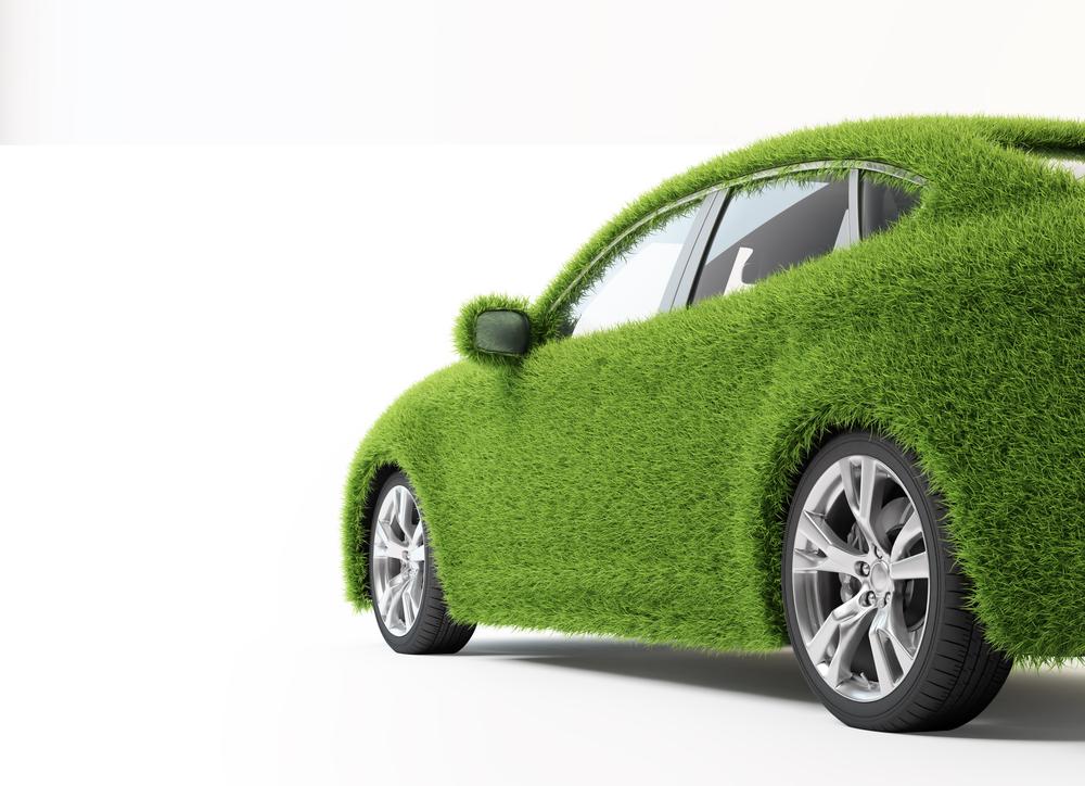 a green-colored car