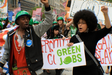 green jobs marchers