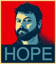 """David Roberts in """"Hope"""" poster"""