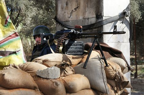 Checkpoint at Damascus' edge.