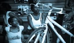 black-women-bike