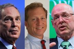 Michael Bloomberg, Tom Steyer, and Hank Paulson