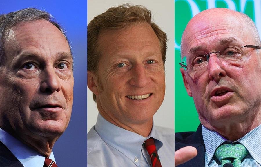 Michael Bloomberg, Tom Steyer, and Hank Paulson