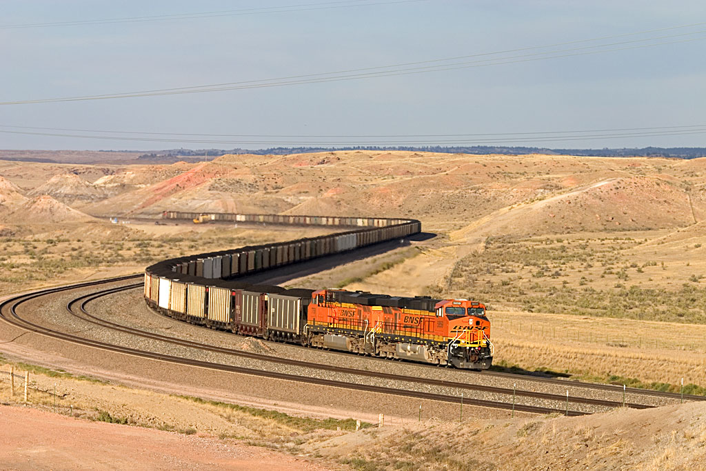 A train loaded with coal in Wyoming