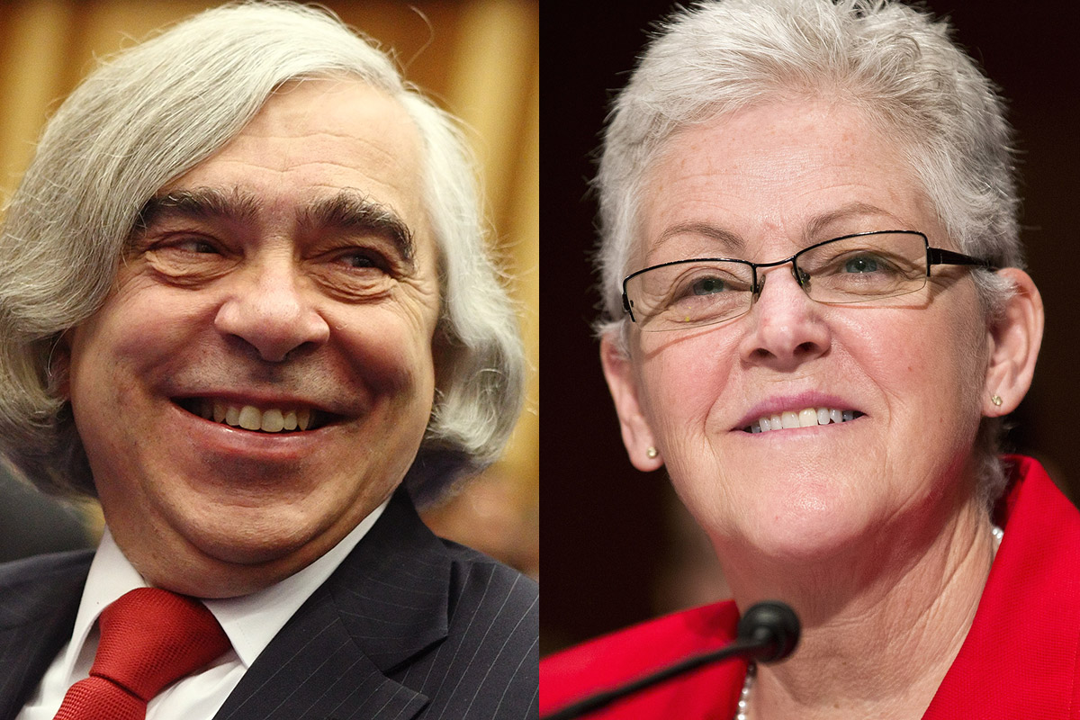 U.S. Secretary of Energy Ernest Moniz and Gina McCarthy, Administrator of the Environmental Protection Agency