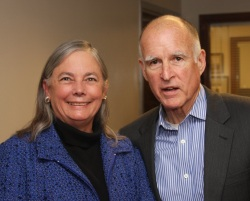 Fran Pavley and Jerry Brown