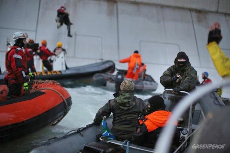 Greenpeace protest in Russia