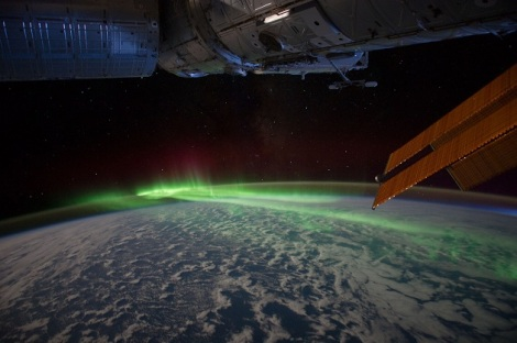 Aurora Australis, from the International Space Station.