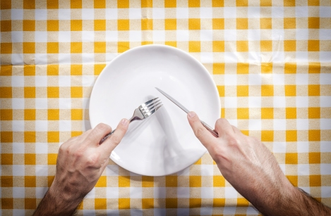 empty plate hunger