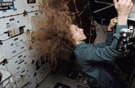 Marsha Ivins on Space Shuttle Columbia, 1997.