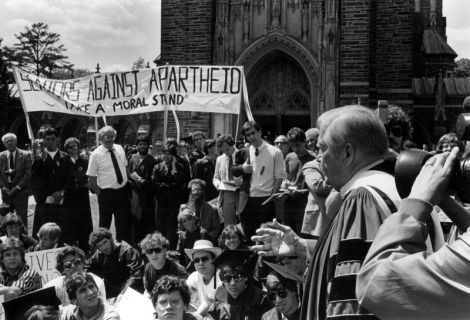 1986 Duke divestment protest