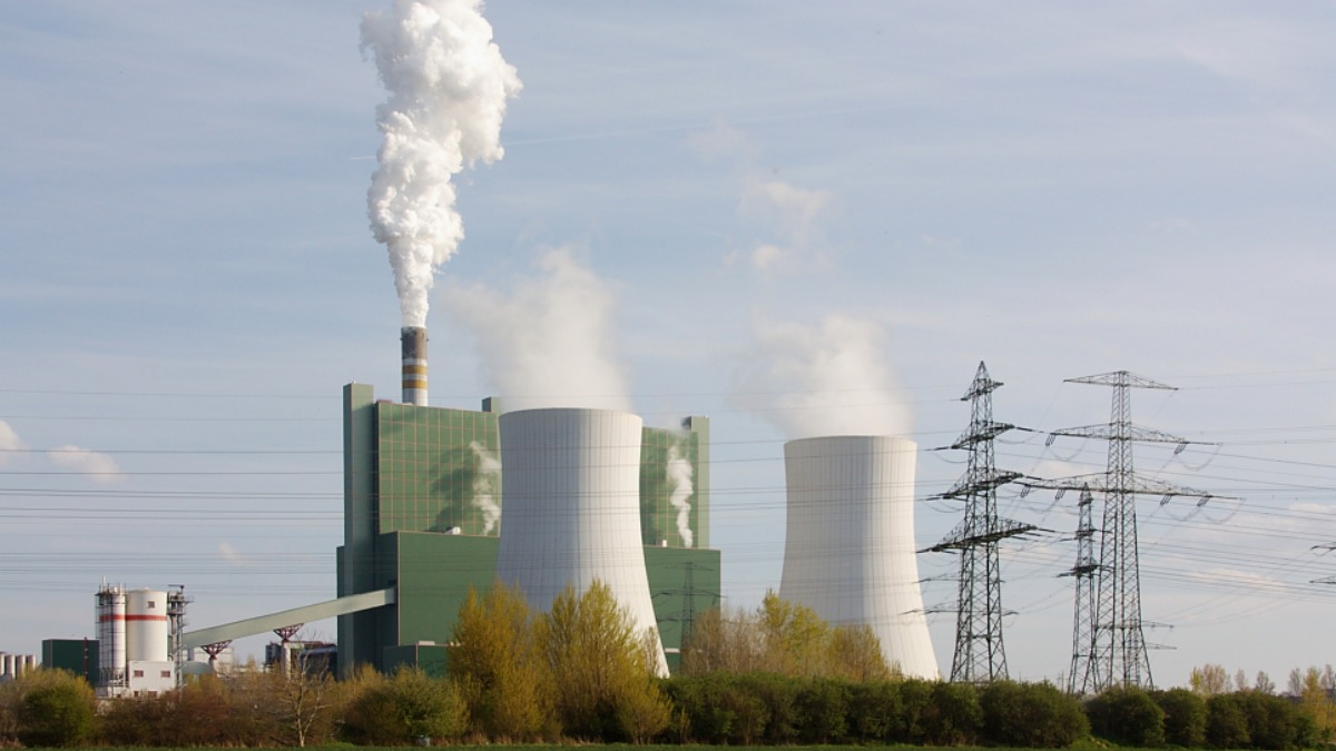 Coal power station near Halle, Germany