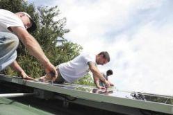 Mary Anne Hitt's solar panel installation