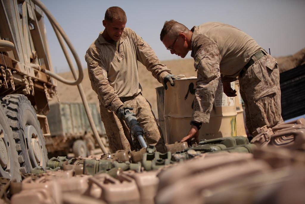 Fuel convoy in Afghanistan