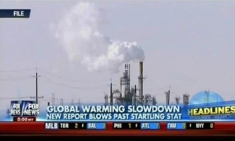 Fox News on the morning of Sept. 27, 2013, covering the new IPPC report on climate change.