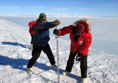 """Antarctic researcher Gretchen Hoffman, left, says consequences of the shutdown """"could completely scuttle some projects."""""""