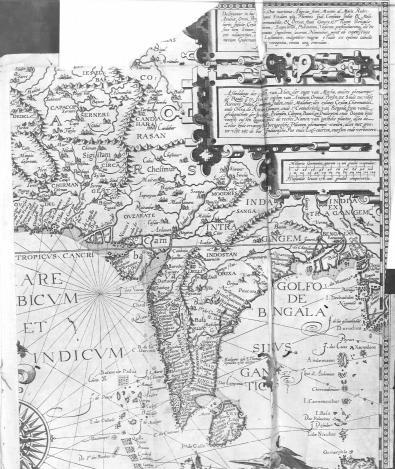Linschoten's map of India