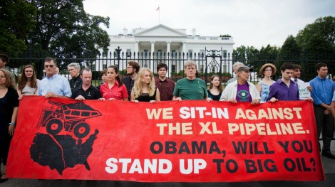 A 2011 protest at the White House.