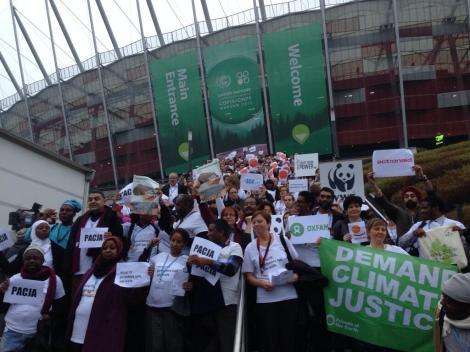 """""""Polluters talk, civil society walks."""""""