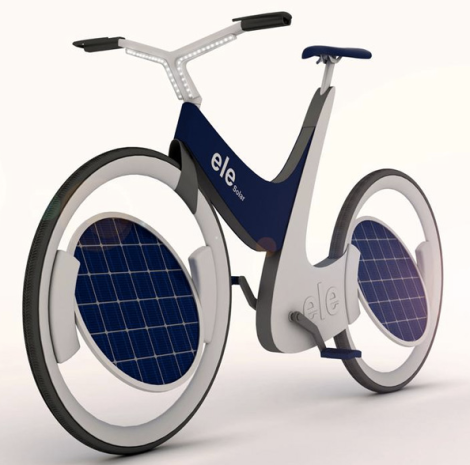 Yeah, solar has waste and pollution issues, but this bike is still rad.