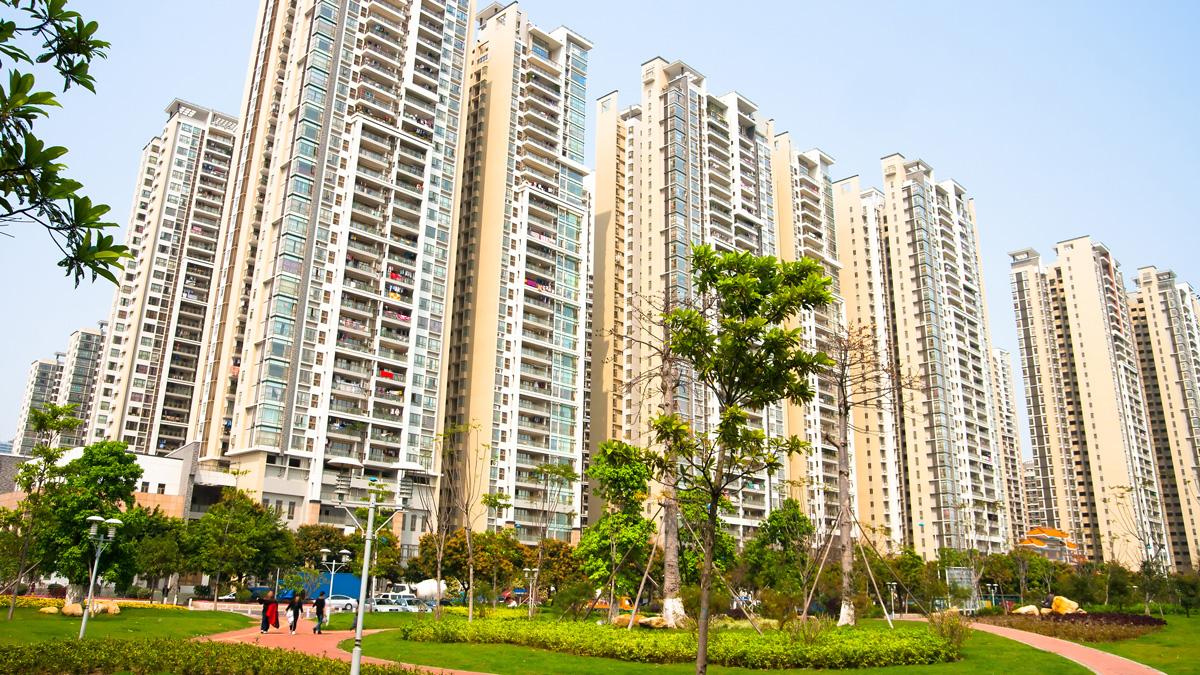 Chinese housing towers