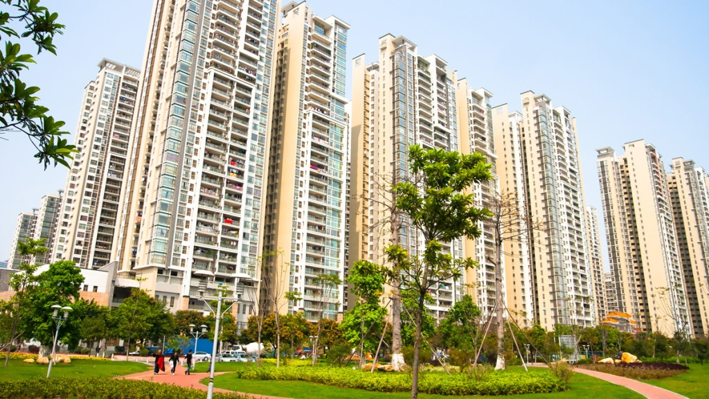 Chinese housing towers